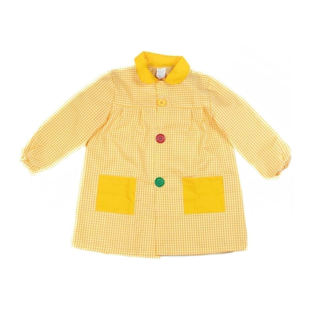 Babi amarillo para guardería y preescolar 👼 Producidos manualmente en Pontevedra.